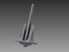 P Boat anchor set 1/48 in Smooth Fine Detail Plastic