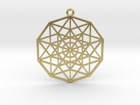 5D Hypercube in Natural Brass