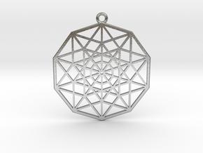 5D Hypercube in Natural Silver