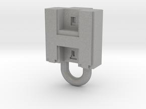 Puma Punku H-block Pendant 1,5cm in Aluminum