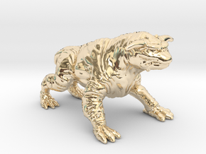 Ghostbusters 1/60 Terror Dog zuul gozer miniature in 14k Gold Plated Brass