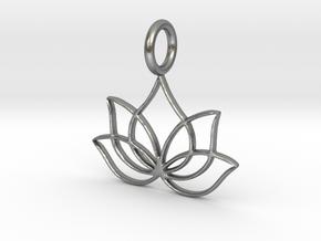 Lotus (K)  in Natural Silver