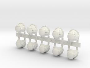 V7 Mech Style Blank Shoulder Pad in White Natural Versatile Plastic