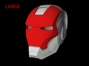 Iron Man Helmet - Face Shield (Large) 3 of 4 in White Natural Versatile Plastic