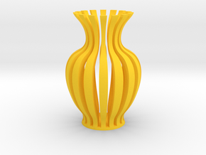 Vase-18 in Yellow Processed Versatile Plastic