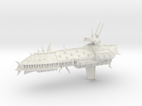 Possessed Chaos Capital Ship - Concept 1  in White Natural Versatile Plastic