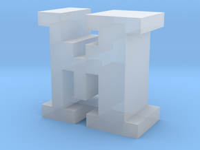 """""""M"""" inch size NES style pixel art font block in Smooth Fine Detail Plastic"""
