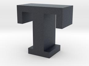 """""""T"""" inch size NES style pixel art font block in Black PA12"""