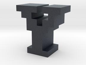 """""""Y"""" inch size NES style pixel art font block in Black PA12"""