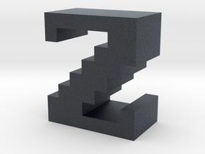 """""""Z"""" inch size NES style pixel art font block in Black PA12"""