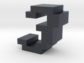 """""""3"""" inch size NES style pixel art font block in Black PA12"""
