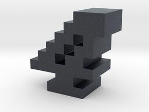 """""""4"""" inch size NES style pixel art font block in Black PA12"""