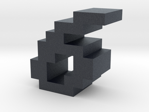"""""""6"""" inch size NES style pixel art font block in Black PA12"""