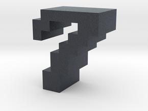 """""""7"""" inch size NES style pixel art font block in Black PA12"""