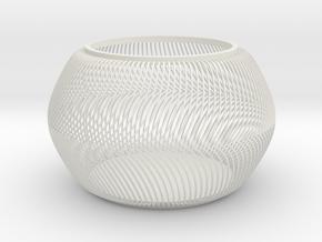 Squishy Bowl in White Natural Versatile Plastic