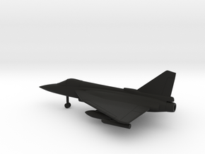 HAL Tejas in Black Natural Versatile Plastic: 1:160 - N