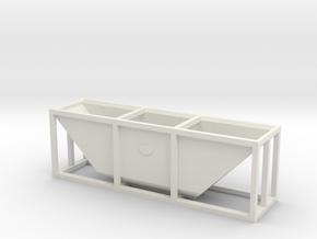 N6.5 / NN3 hopper wagon body to fit Rokuhan bogie  in White Natural Versatile Plastic