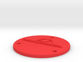wheel cover fs in Red Processed Versatile Plastic