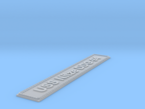 Nameplate USS Nitze DDG-94 in Smoothest Fine Detail Plastic