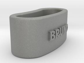 BRUNO napkin ring with lauburu in Gray Professional Plastic