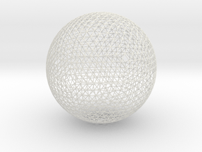 Geodesic sphere, 335 mm in White Natural Versatile Plastic