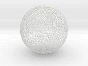 Geodesic sphere, 335 mm in White Natural Versatile Plastic