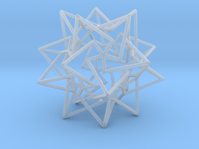 Star Dodecahedron in Smooth Fine Detail Plastic
