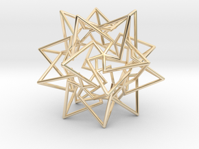 Star Dodecahedron in 14K Yellow Gold