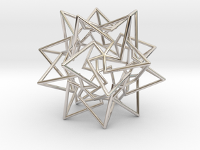 Star Dodecahedron in Platinum