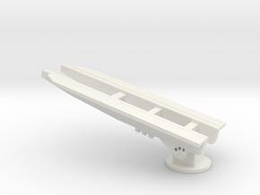 1/96 Scale Regulus Submarine Launcher in White Natural Versatile Plastic