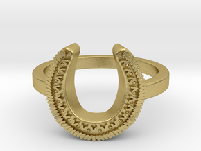 Horseshoe Ring in Natural Brass