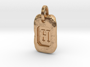 Old Gold Nugget Pendant H in Polished Bronze