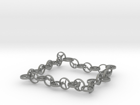 32 yoga pose bracelet in Gray PA12