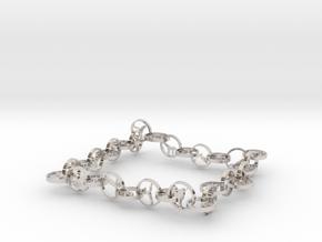32 yoga pose bracelet (1) in Rhodium Plated Brass