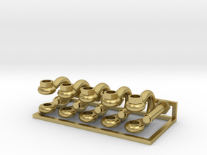1/16 Scale 1.25 Inch Bolt Shackles in Natural Brass
