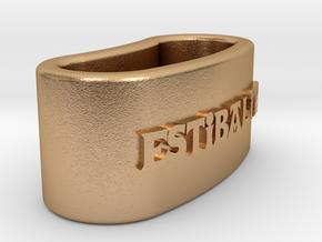 ESTIBALITZ 3D Napkin Ring with daisy in Natural Bronze