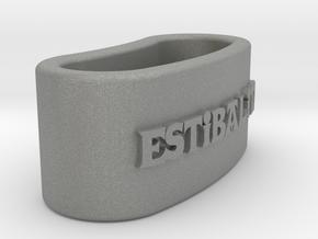 ESTIBALITZ 3D Napkin Ring with daisy in Gray PA12