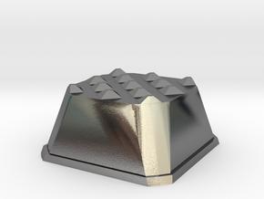 Truffle Shuffle 1c in Polished Silver