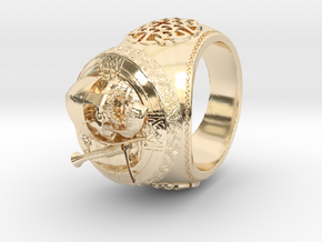Celtic Grave Signet Ring in 14K Yellow Gold