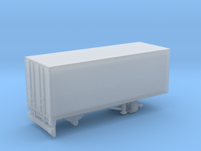1-87 Scale Transit 19ft Trailer Single Axle in Smooth Fine Detail Plastic