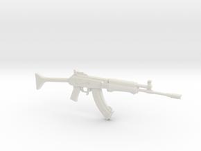 1:6 Miniature RK62 Assault Rifle in White Natural Versatile Plastic