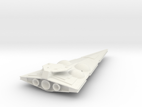 Imperial Interdictor crusier 1/7000th scale in White Natural Versatile Plastic