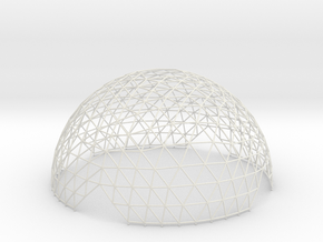 Geodesic Hemisphere, 12-frequency in White Natural Versatile Plastic
