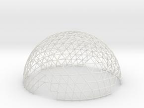 Geodesic Hemisphere, 12-frequency in White Natural Versatile Plastic