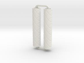 Slimline Pro loops engraved ARTG in White Natural Versatile Plastic