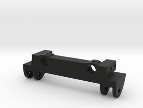 SCX10 Front Leaf Spring Hanger w/ Bumper Mount in Black Natural Versatile Plastic