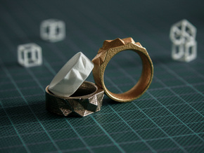 Triangulated Ring - 17.5mm in 14k Rose Gold Plated