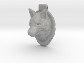 Wolf Pendant in Aluminum