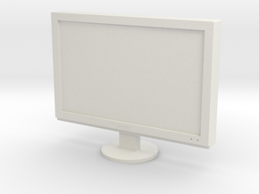 Printle Thing Television - 1/24 in White Natural Versatile Plastic