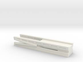 1/128 Scale Cruiser Regulus Launcher Lowered in White Natural Versatile Plastic